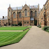 "Someone described Keble College as ""a sort of apotheosis of the Oxford Movement,  translated into architectural terms.""  First you will note that the architect, William Butterfield, did not use the golden stone we saw in the City Centre.  He used brick, and not plain brick but multicolored brick.  The stuffed shirts of Oxford were appalled.  Some people still are.  I love it."