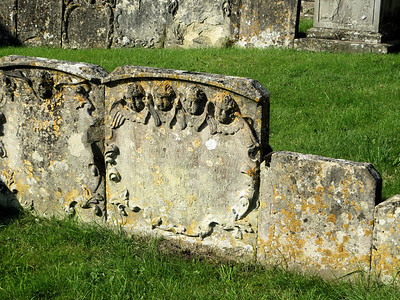 Most of the 17th century stones are too weathered for the inscriptions to be read any more.  Churches do not have the resources to maintain or restore old headstones, which is understandable but unfortunate.