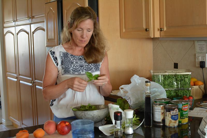 Patty making pesto