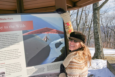 We were surprised to find my photo of a hang glider in the display at the park. I'd leased for use as the cover of the state travel guide. They apparently wanted the wings to be red. Learn more about this photo on my Blogger Post.