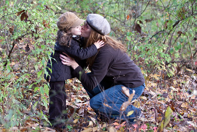 As we take an early morning stroll in Hill Creek State Park the girls stop for a loving smooch. We like to spend at least one long weekend at this park, exploring the surrounding countryside.