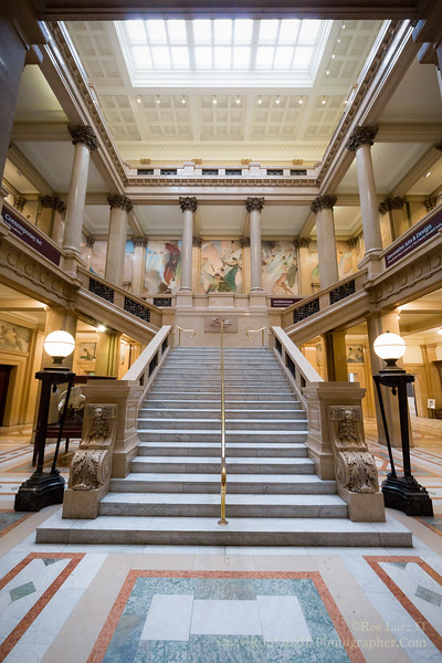 The Grand Stairwell of the Carnegie Museums