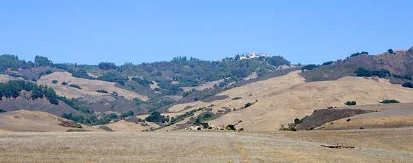 HEARST CASTLE AS SEEN FROM HWY 1