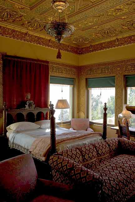 GUEST BEDROOM AT HEARST CASTLE