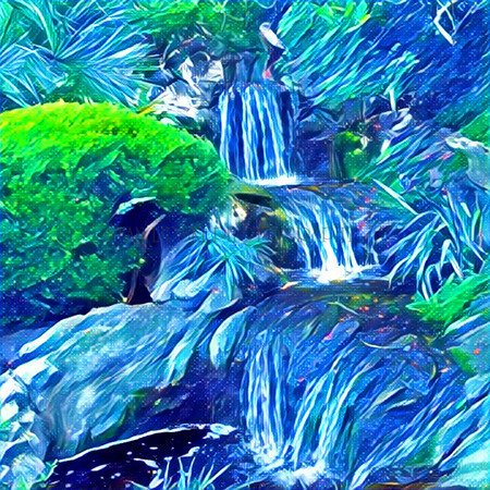 BLUE WATERFALLS