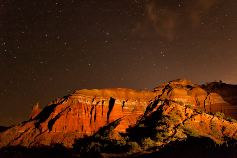 """""""LIGHT PAINTING"""" WITH A HIGHER ISO TO RENDER THE STARS MORE BRILLIANTLY"""