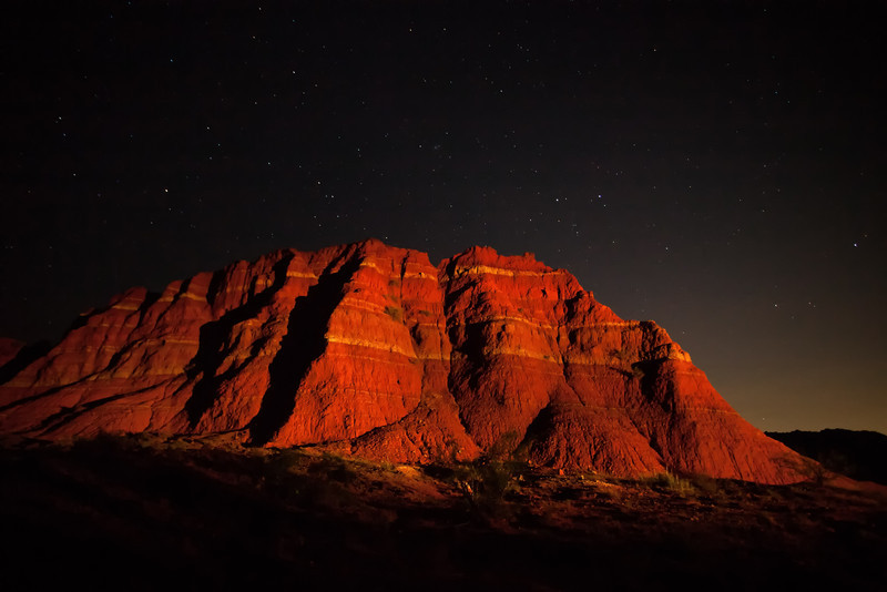 """THE """"SPANISH SKIRTS"""" OF PALO DURO PAINTED WITH LIGHT"""