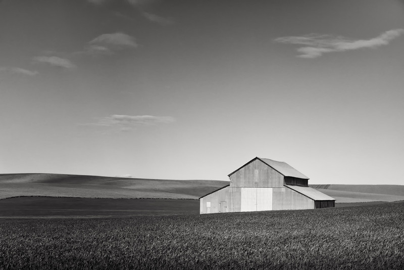 "ISOLATED BARN AMONGST THE ""VASTNESS"" OF THE PALOUSE."