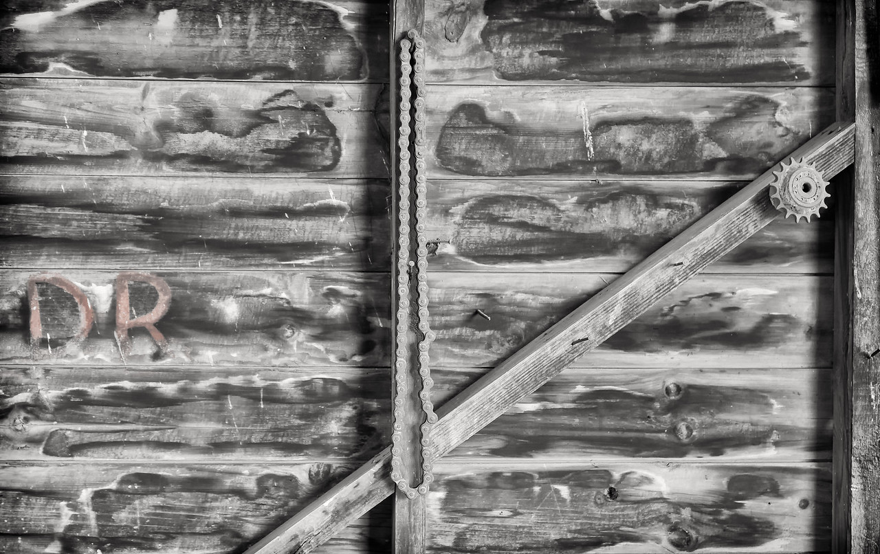 """""""REMNANTS"""" OF AN OLD TRACTOR SHED."""