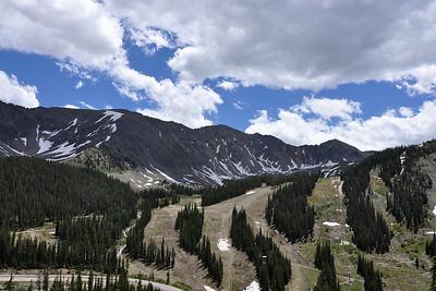 Ski slopes in July.