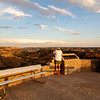 Claire and Teresa enjoy the evening light at Palo Duro Canyon State Park