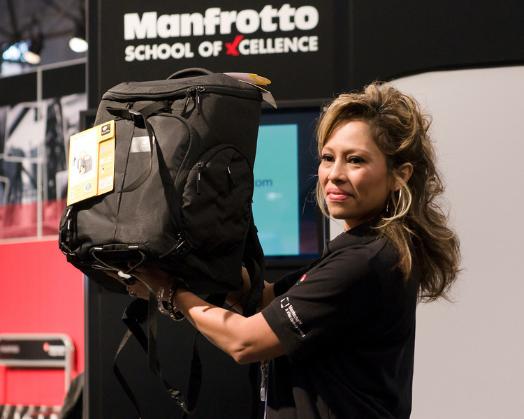 Manfrotto was giving away these cool bags at their talks for lucky raffle winners.