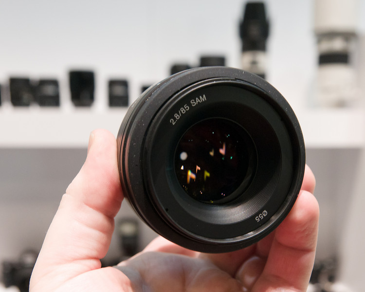 Sony 85mm f/2.8 SAM for Sony Alpha.