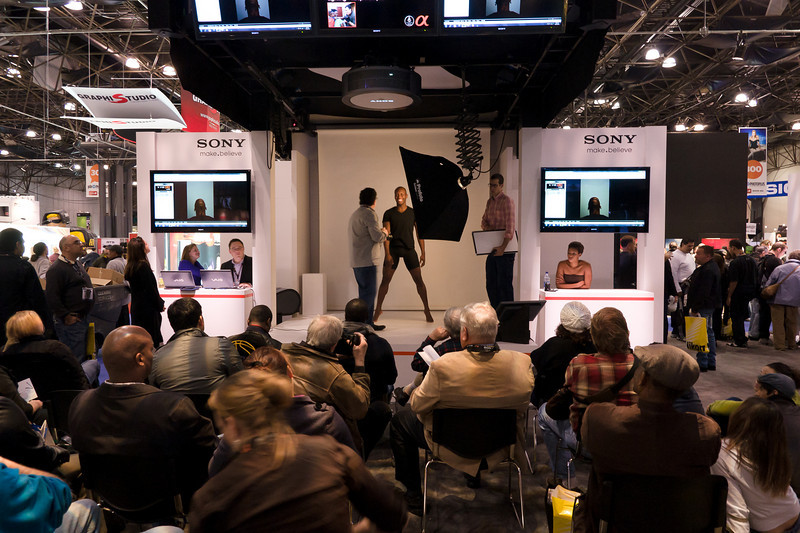 Part of Sony's stand was this demo area where guys like Andy Katz gave talks.