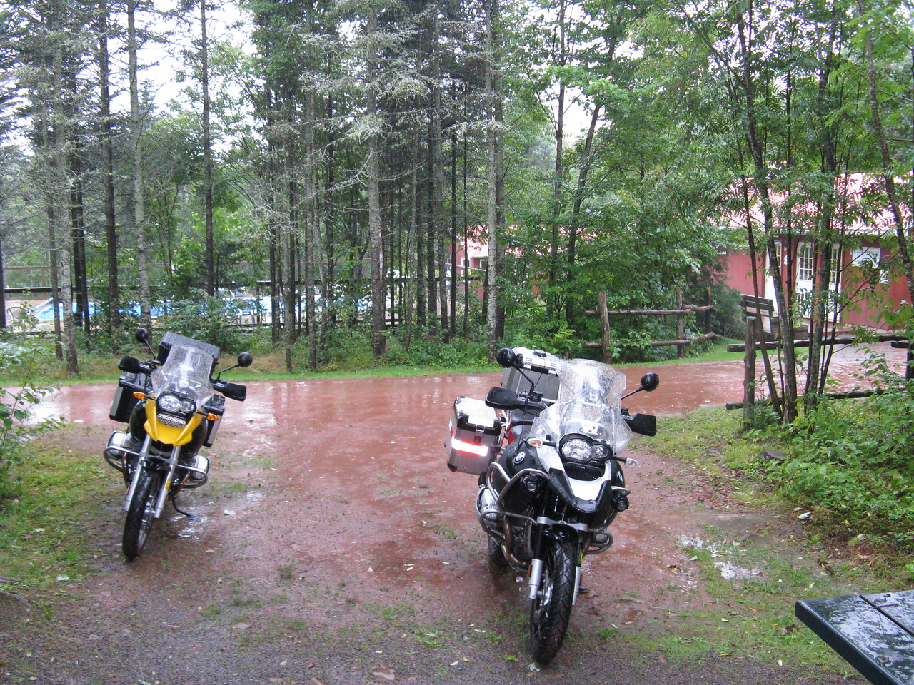 This was a washout day - torrential rain all day. The cabin was a great bargain.