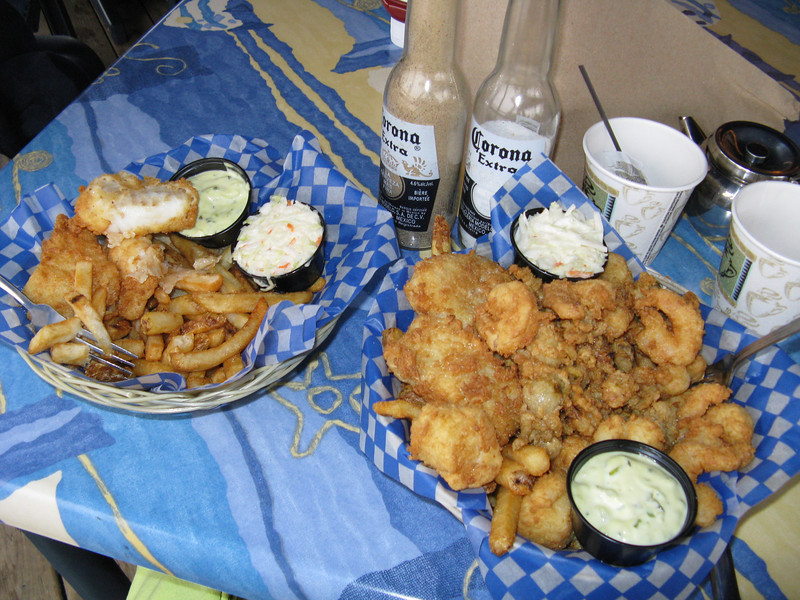 Captain Dan's seafood plate in Shediac - the food here was some of the best on the trip.