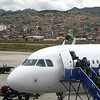 Lan Chile arrives in Cuzco, 11,500 feet higher than Lima.
