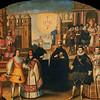 Wedding portrait of Martin Garcia do Loyola, Tupac's murderer, and the Inca king's niece.