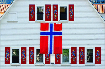 """SONS OF NORWAY"" community hall,Petersburg,Alaska,USA."