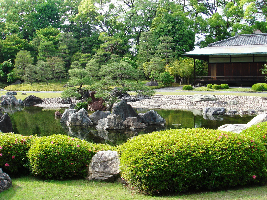 Japanese gardens<br /> Trees clipped into submission<br /> Rocks, moss, water, peace<br /> <br /> Ruth Greenham  Mountains of Central Japan  September 2005