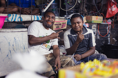 Betel nut traders in Port Moresby's underground market