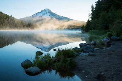 Mt. Hood Reflected in perfect calm Trillium Lake