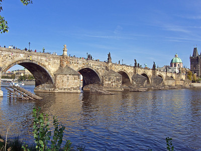 Charles bridge from west to east tower