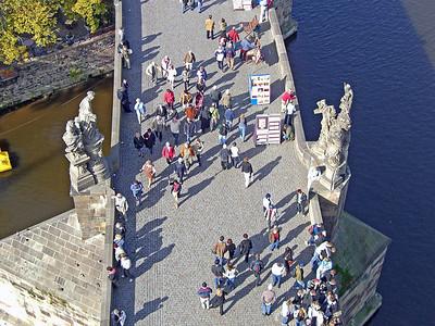People on bridge.