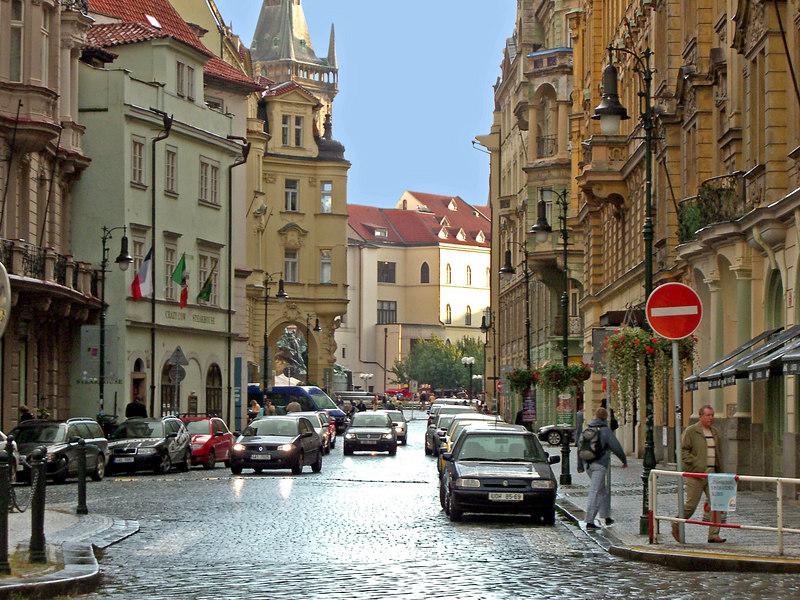 Rybna St. near my hotel.