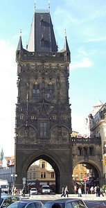 Powder Tower. Modelled after the west tower at Charles Bridge.