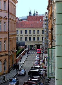 View from my room, Hotel Josef, first afternoon in Prague.