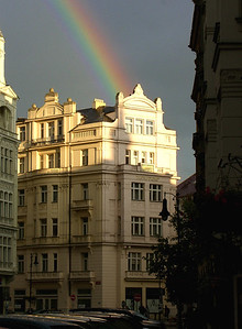 Dlouha St. rainbow.