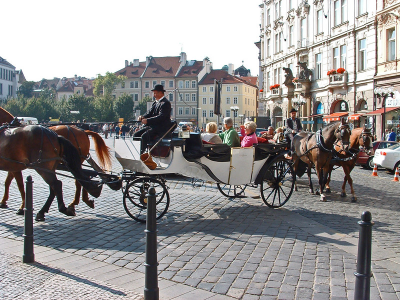 Tourist carriages.