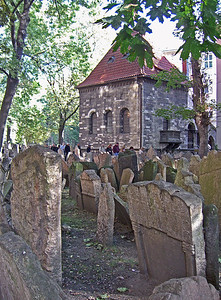 Headstones and Chevra Kadisha, the Prague Jewish Burial Society.