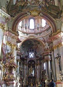 Interior, St. Nicholas Church of Lesser Town.