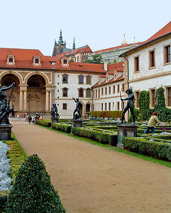 Wallenstein gardens. Next photo shows ceiling under those arches.
