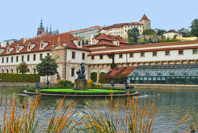 Wallenstein gardens. Most of the buildings are now European Union administration.