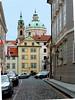 On the way up, St.Nicholas Church of Mala Strana.