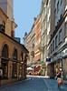 Havelska Street, cafe in background.  Location 17 on satellite photo.