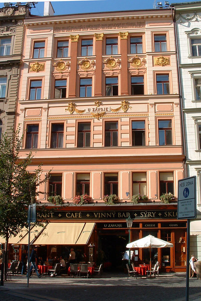 Havelska Street cafe. Location 17 on satellite photo.