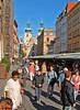 Havleska Street market. St. Gall's Church in background.   Location 17 on satellite photo.
