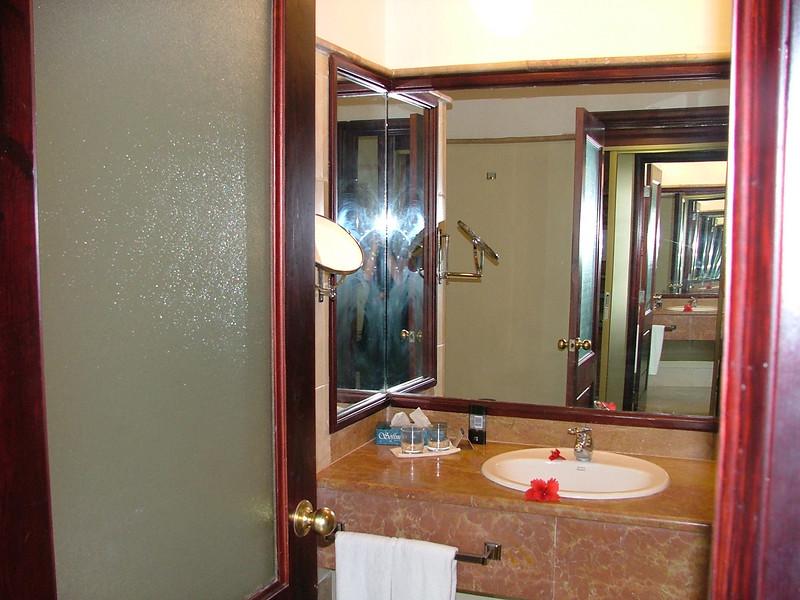 Bathroom at Melia Caribe Tropical.