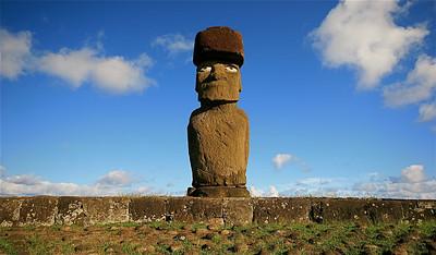 Ahu Ko Te Riku. Paaseiland (Rapa Nui), Chili.