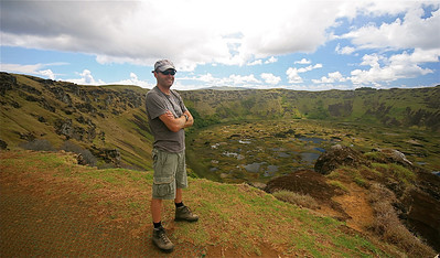 Ed @ Vulkaan Rano Kau. Paaseiland (Rapa Nui), Chili.