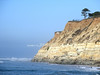 Pacific Ocean  and cliffs Near San Clemente, California