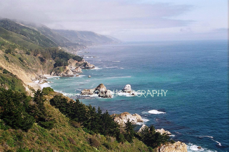 California Coastline from the Pacific Coast Highway