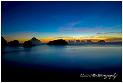 Oregon Islands N.W.R. The most amazing sunset turning to night.
