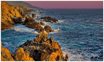 Rocky coastline at Big Sur, California.