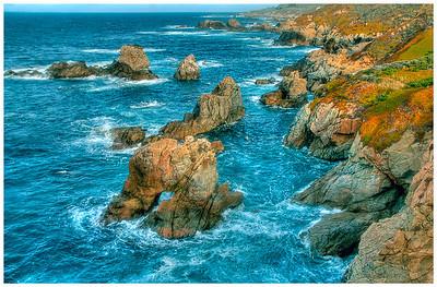 Beautiful rocky shoreline at Big Sur.