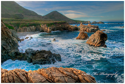 The Big Sur coastline in the early morning light.